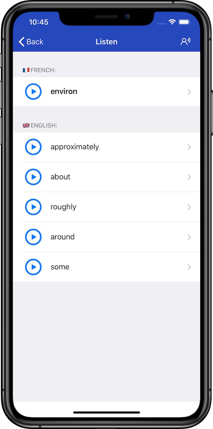 French dictionaries with audio