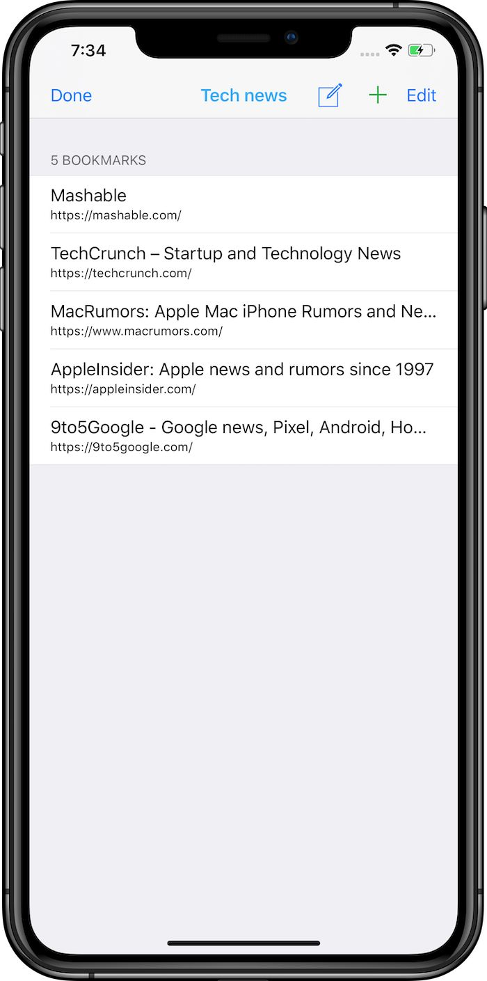 Follow blogs, social media pages and news websites on iPhone and iPad